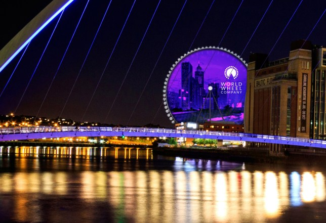 Undated artist's impression supplied by World Wheel Company of plans for a new observation wheel in Newcastle Upon Tyne. Nicknamed the Whey Aye, the wheel will stand at 460ft tall alongside the River Tyne. PRESS ASSOCIATION Photo. Issue date: Wednesday May 16, 2018. See PA story INDUSTRY Wheel. Photo credit should read: World Wheel Company/PA Wire NOTE TO EDITORS: This handout photo may only be used in for editorial reporting purposes for the contemporaneous illustration of events, things or the people in the image or facts mentioned in the caption. Reuse of the picture may require further permission from the copyright holder.