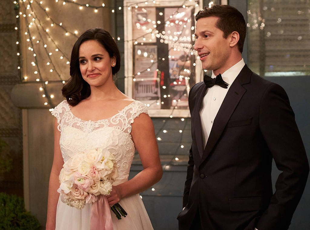Brooklyn 99 ends with Jake and Amy's perfect wedding, complete with bomb threat and a robot