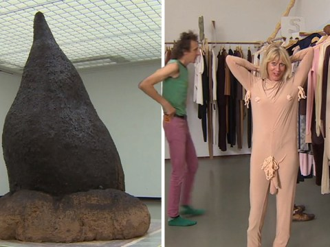 Bizarre collection of artwork featuring giant mounds of poo goes on show