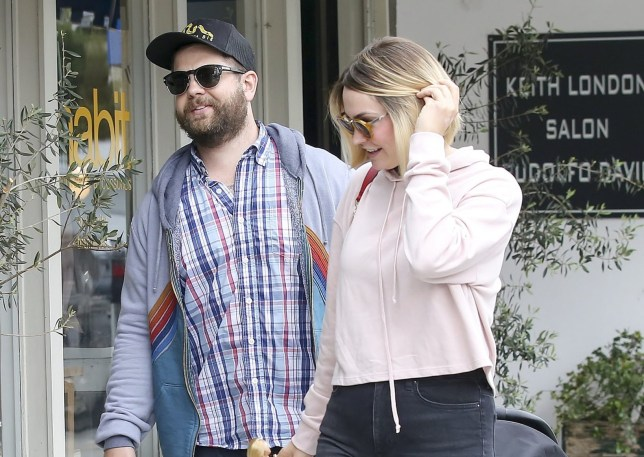 Soon to be divorced Jack Osbourne and Lisa Stelly are seen in good spirits whilst leaving a restaurant in Los Angeles, California Pictured: Jack Osbourne and Lisa Stelly Ref: SPL1701507 210518 Picture by: Splash News Splash News and Pictures Los Angeles: 310-821-2666 New York: 212-619-2666 London: 870-934-2666 photodesk@splashnews.com