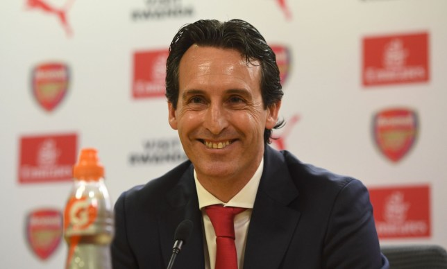 LONDON, ENGLAND - MAY 23: Arsenal Head Coach Unai Emery during his press conference at Emirates Stadium on May 23, 2018 in London, England. (Photo by David Price/Arsenal FC via Getty Images)