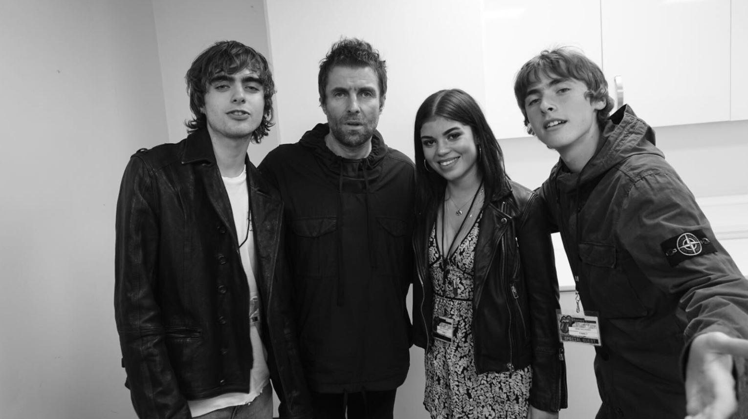 Liam Gallagher meets daughter Molly, 21, for the first time as she watches him perform