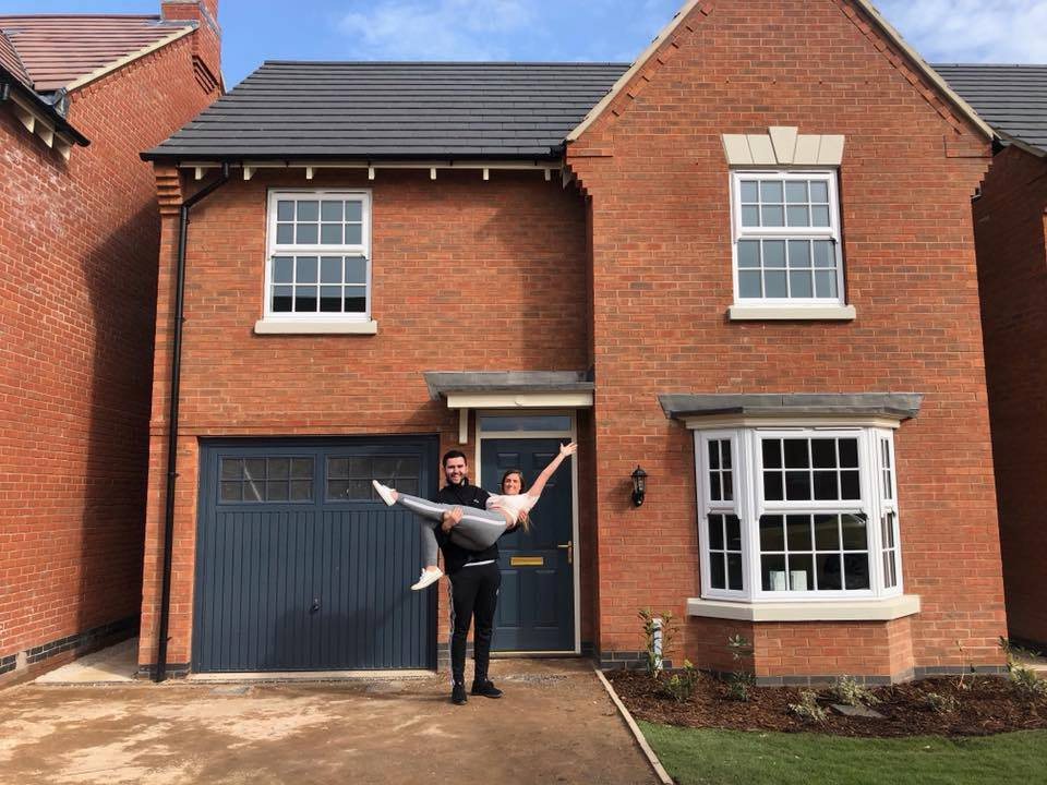 Getting on the property ladder is a worry for a lot of young people, but one teenager has done it and says it's not as scary as you might think. Aaron Thompson, now 19, originally from Romford, Essex, moved into his new build home in Lutterworth, Leicestershire, in March. He bought the home with his girlfriend Jessica King, 21, when he was just 18-years-old.