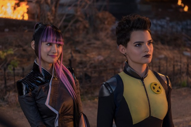 "No Merchandising. Editorial Use Only. No Book Cover Usage Mandatory Credit: Photo by J Lederer/20th Century Fox/Kobal/REX/Shutterstock (9691437j) Shioli Kutsuna, Brianna Hildebrand ""Deadpool 2"" Film - 2018"