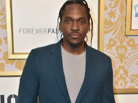 Pusha T nearly upstages Kanye West at his own album listening party as people congratulate him over Drake diss