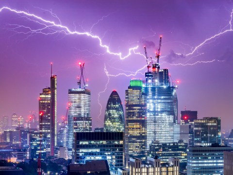 Met Office upgrades weather warning to amber for 48 hours of thunder and lightning