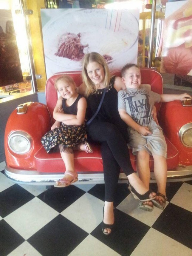 Hayley with her kids Abbie and Rhys (PA Real Life/Collect)