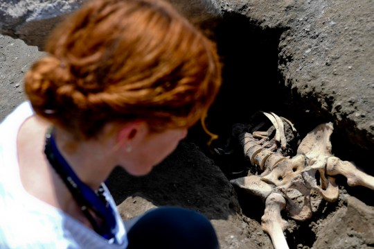 Headless remains found at Pompeii of man trying to flee