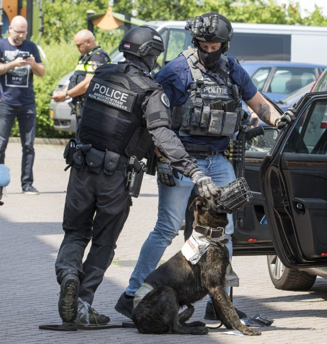 """Police shoot man with axe near Schiedam in Netherlands A police arrest team shot a 26-year-old man in Schiedam. Around half past two in the afternoon the police received a report about a person who from his balcony at the Van den Tempelstraat waved a chopper and called """"Allahu akbar""""."""
