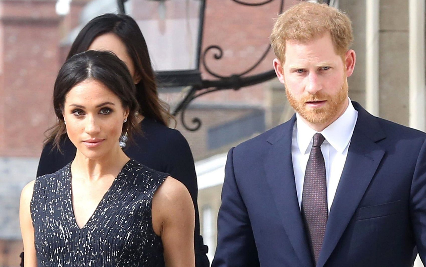 BGUK_1213576 - London, UNITED KINGDOM - VIP guests attend a memorial service to commemorate the 25th anniversary of the murder of Stephen Lawrence and to celebrate his life and legacy in London, UK. Pictured: Prince Harry, Meghan Markle BACKGRID UK 23 APRIL 2018 BYLINE MUST READ: A WEIR / BACKGRID UK: +44 208 344 2007 / uksales@backgrid.com USA: +1 310 798 9111 / usasales@backgrid.com *UK Clients - Pictures Containing Children Please Pixelate Face Prior To Publication*