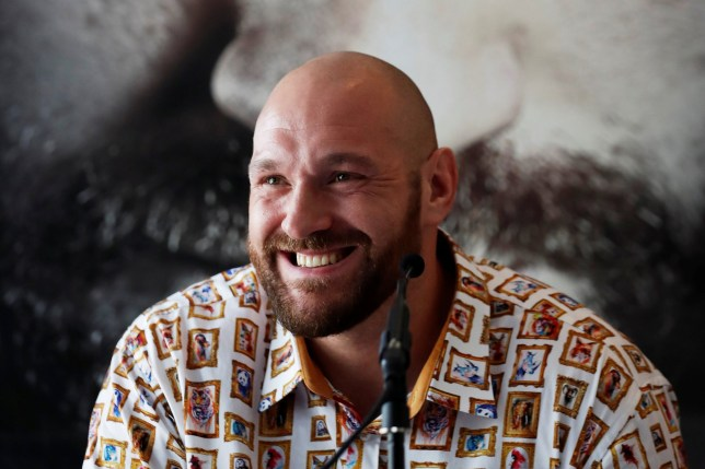 Boxing - Tyson Fury & Terry Flanagan Press Conference - The Lowry Hotel, Manchester, Britain - April 26, 2018 Tyson Fury during the press conference Action Images via Reuters/Lee Smith