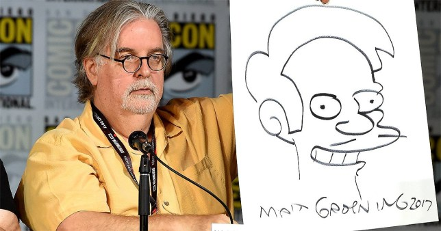 Mandatory Credit: Photo by Frank Micelotta/Fox/PictureGroup/REX/Shutterstock (8971797a) Al Jean and Matt Groening 'The Simpsons' TV show photo call, Comic-Con International, San Diego, USA - 22 Jul 2017 Owner Metro_co_uk Local Feed Photographer Frank Micelotta/Fox/PictureGroup/REX/Shutterstock Properties rgb, JPEG, 1.2M (16.8M), 3000w x 1954h, 300 x 300 dpi Provider Frank Micelotta/Fox/PictureGroup/REX/Shutterstock