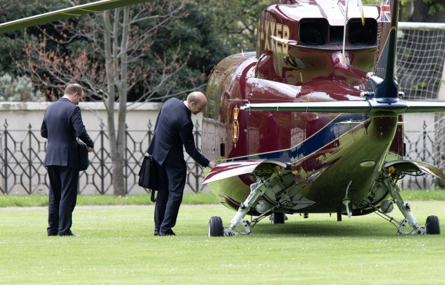 1st May 2018: Flying Visit! The Queen takes a helicopter to see her new great grandchild, Louis. The helicopter landed in Kensington Gardens, behind Kensington Palace. The Queen stayed for approximately 1.30hrs then left by car. Non Exclusive Worldwide ** No Oz, New Zealand, Spain, France ** Pictures by : FameFlynet UK ? 2017 Tel : +44 (0)20 3551 5049 Email : info@fameflynet.uk.com