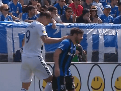 Zlatan Ibrahimovic sent off for LA Galaxy after slapping Montreal star Michael Petrasso