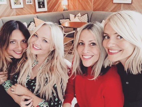 We want in on Holly Willoughby's girl gang as she hangs with Emma Bunton and Nicole Appleton