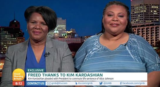 Alice Marie Johnson and daughter on GMB