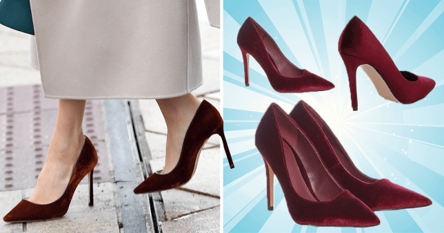 MEG-A SAVING Save yourself £560 with these Meghan Markle-lookalike velvet heels… and they're now on sale