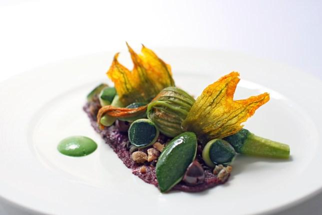 Vegan dish at Gauthier Soho