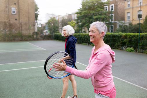 Playing tennis can improve your mood and mental well-being, say recreational players