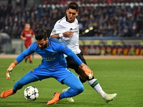 Roberto Firmino talking to Liverpool transfer target Alisson Becker over Anfield move