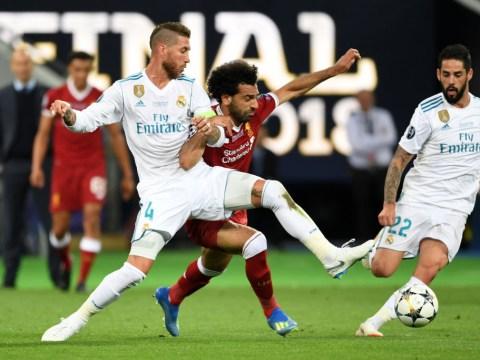 Real Madrid captain Sergio Ramos mocks injured Liverpool pair Mohamed Salah and Loris Karius