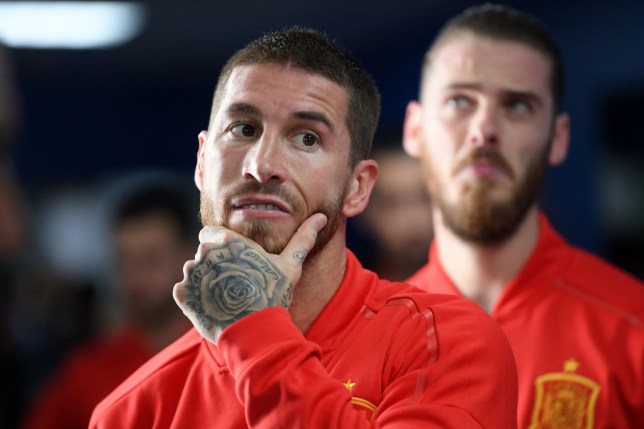 Sergio Ramos celebrates Mohamed Salah's World Cup heartbreak