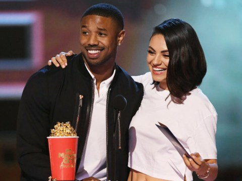 Michael B Jordan calls out Roseanne Barr for not winning Best Villain as he presents MTV Awards with Mila Kunis