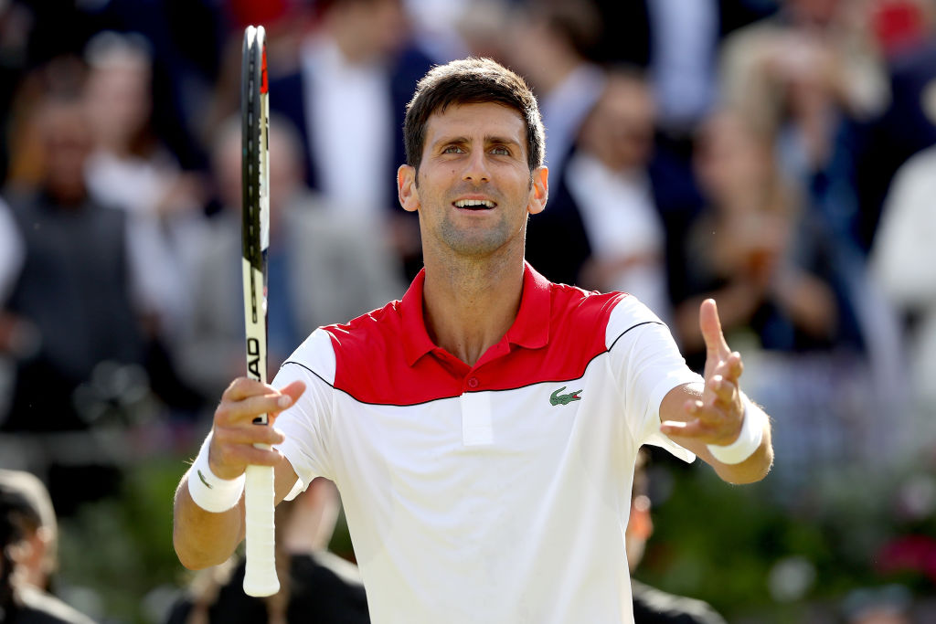 Novak Djokovic names the six players who can challenge Roger Federer at Wimbledon