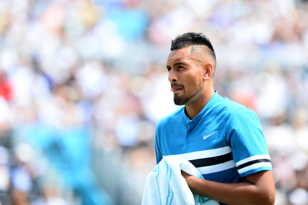 Nick Kyrgios handed hefty fine for obscene gesture in Queen's semi-final vs Marin Cilic