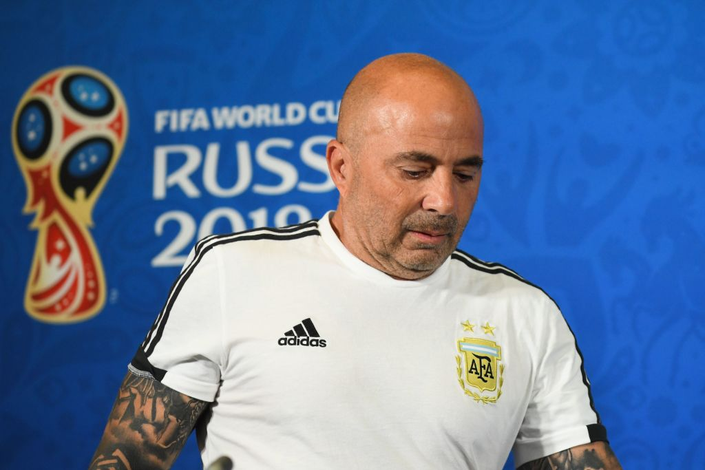 Jorge Sampaoli explains touchline exchange with Lionel Messi over Sergio Aguero sub