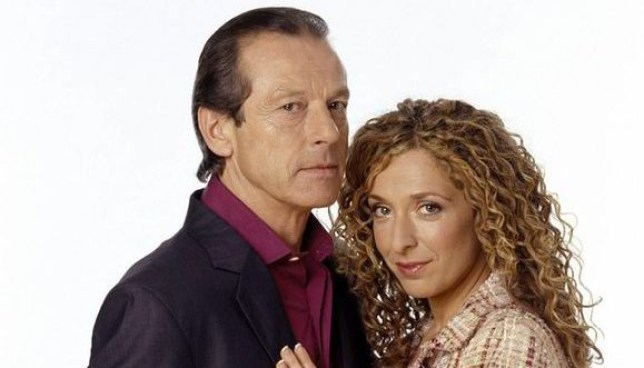Den and Chrissie in EastEnders