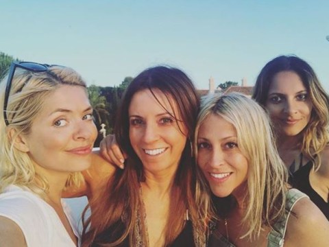 Holly Willoughby lets her hair down on girls weekend with Nicole Appleton