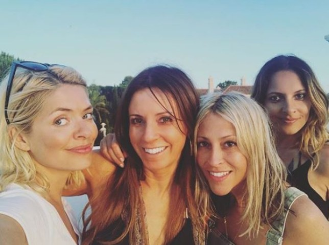 Holly Willoughby goes on holiday with Nicole Appleton (Picture: Instagram)