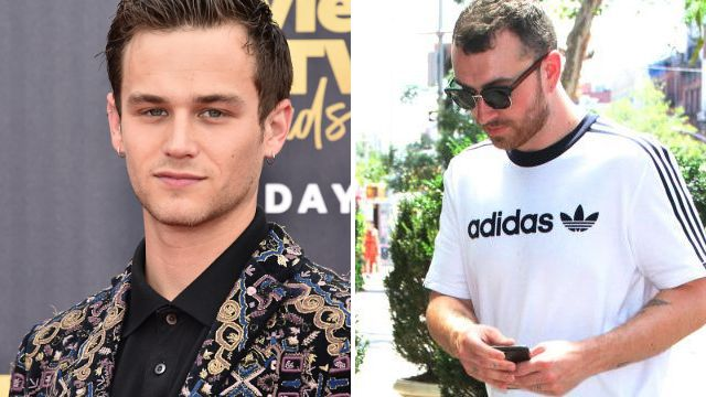 Sam Smith keeps his head down as he admits he's 'going through s**t' after Brandon Flynn split