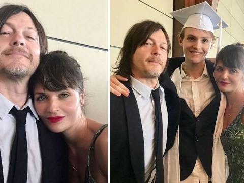 Norman Reedus and Helena Christensen are 'proud as hell' as their son Mingus graduates