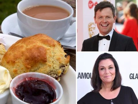 Dawn French, Dec Donnelly and other TV favourites try to settle the cream tea debate – jam first, or cream?