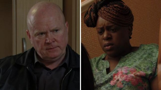 Kim and Phil have a heart to heart in EastEnders