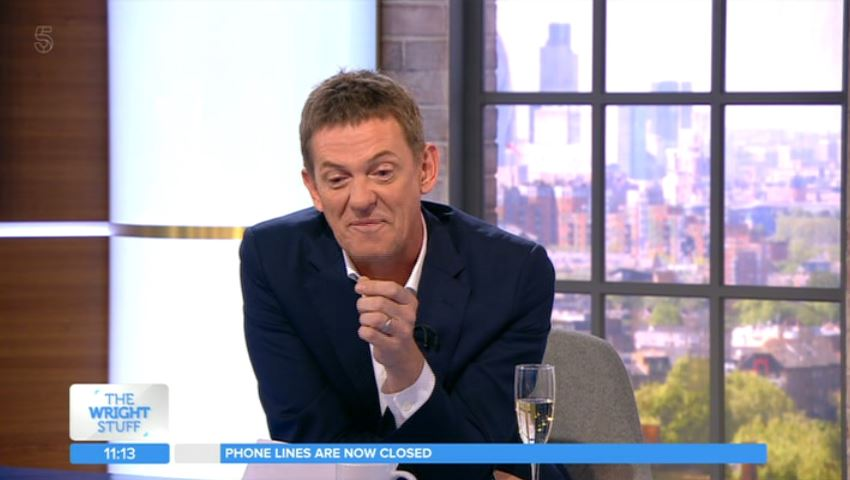 Matthew Wright holds back tears as he bids farewell to The Wright Stuff after 18 years
