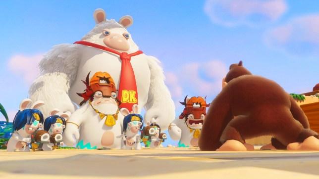 Mario + Rabbids: Donkey Kong Adventure (NS) - that's a big monkey