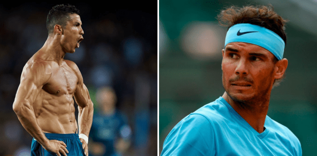 f0f91f7d8 Rafael Nadal gives hilarious response to Cristiano Ronaldo body ...