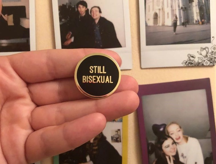 Why this student makes 'Still Bisexual' badges