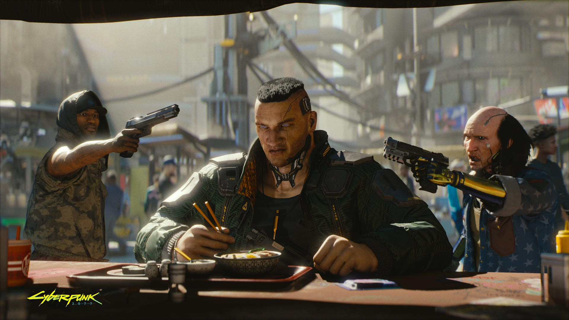 Cyberpunk 2077 - it's basically Blade Runner: The Game