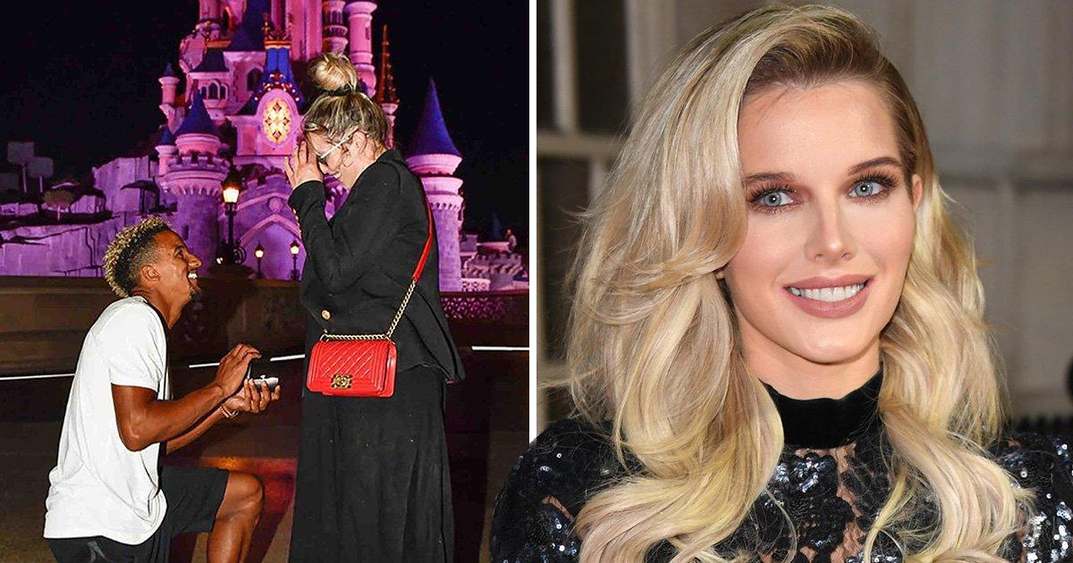 Corrie star Helen Flanagan engaged to her footballer beau Scott Sinclair after literal fairytale proposal