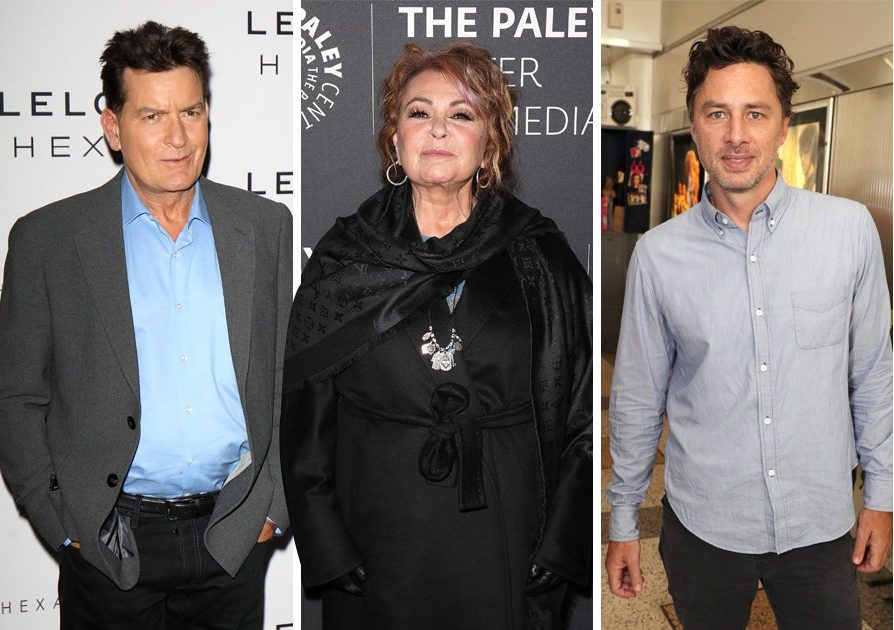 Roseanne producer snaps back at Zach Braff and Charlie Sheen over Twitter jibes