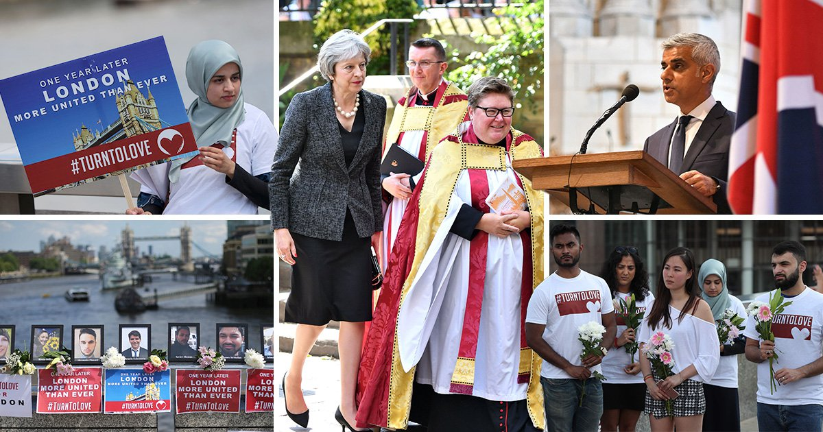 How the capital marked one year on from the London Bridge terror attack