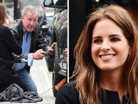 Jeremy Clarkson comes to aid of Binky Felstead as she gets flat tyre in middle of London