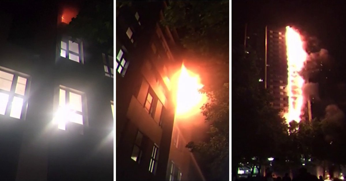 Video reveals how Grenfell fire jumped to roof of building in just a few minutes