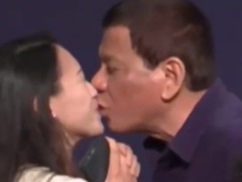 Philippine President kissed woman on the lips on stage sparking outrage