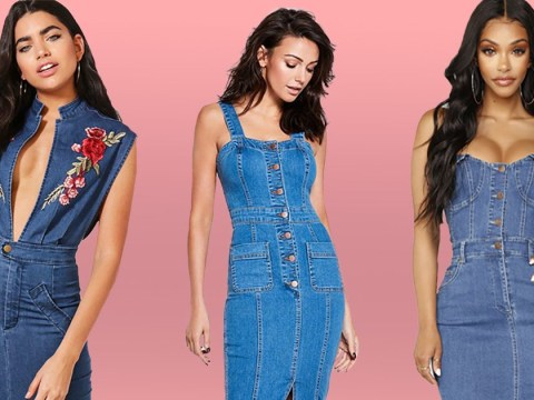 Where to buy a Michelle Keegan style bodycon denim dress