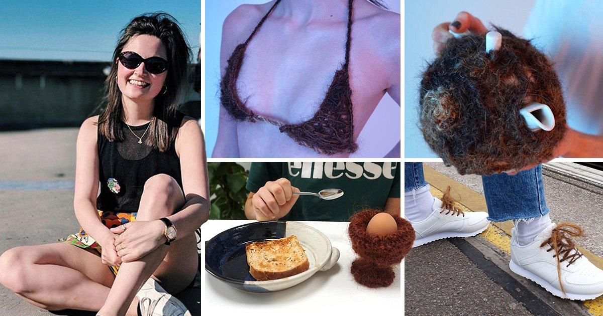 Design student from Goldsmiths is making bikinis and egg cups from human hair